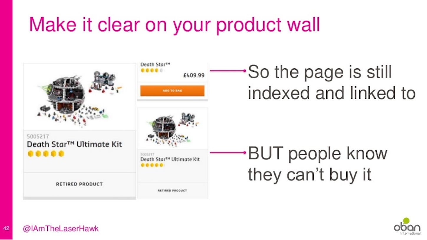 seo tips: product wall