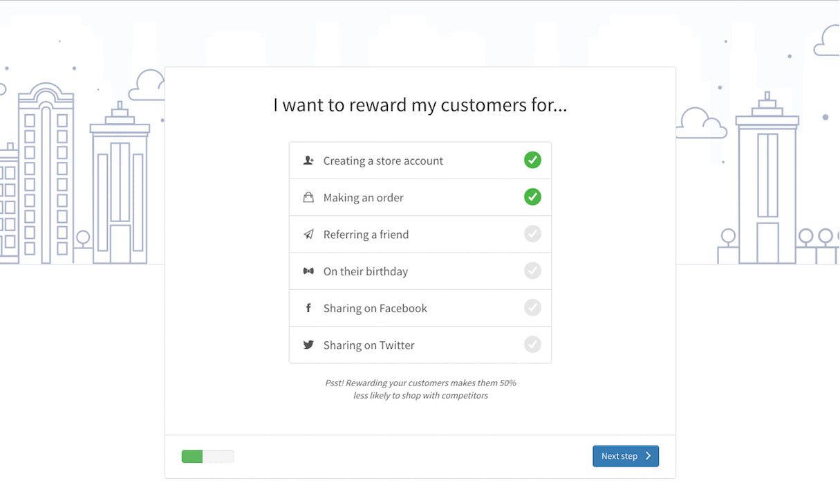 Shopify App Onboarding: Sweet Tooth flow step 2