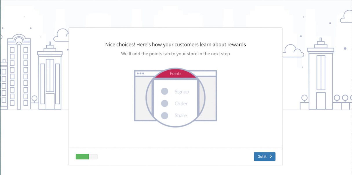 Shopify App Onboarding: Sweet Tooth flow step 3
