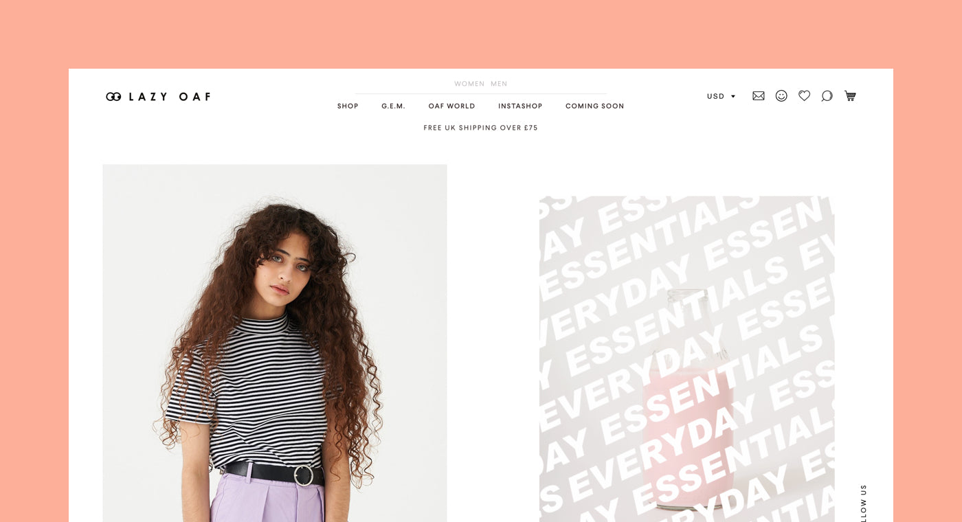 shopify commerce awards 2017 honorable mentions: Eastside Co