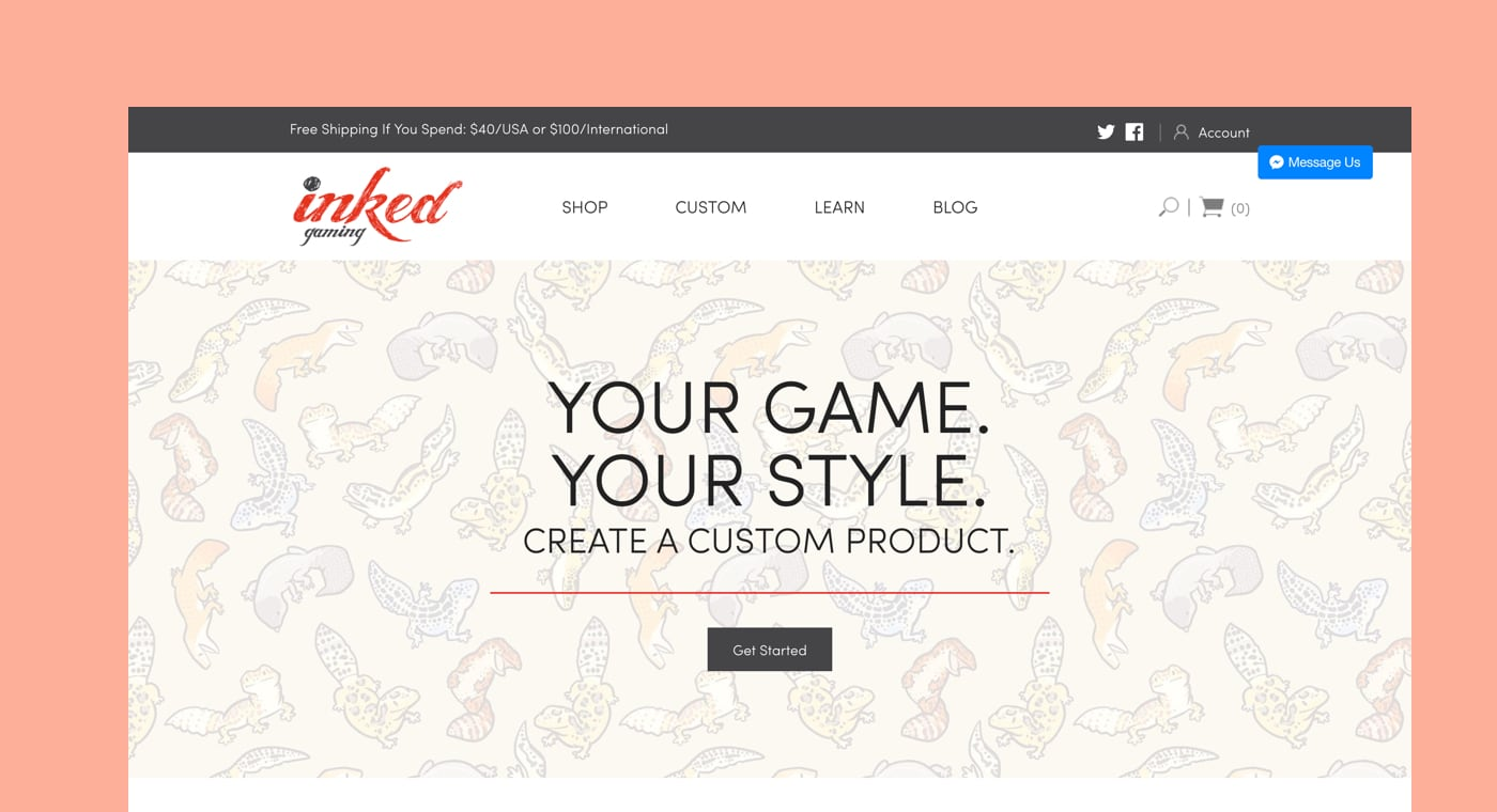 shopify commerce awards 2017 winners: inked gaming