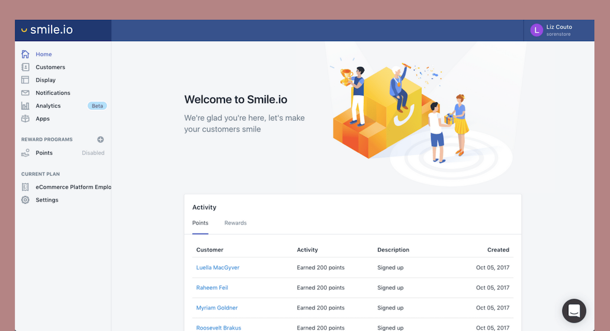 shopify commerce awards apps honorable mentions: smileio