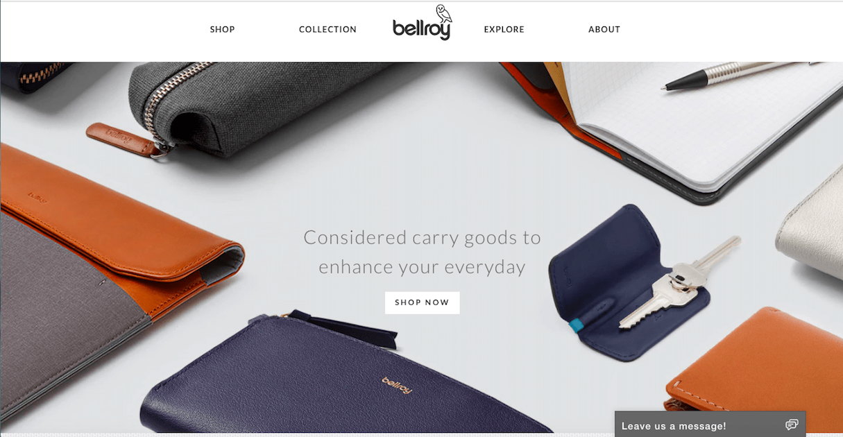 shopify commerce awards: bellroy