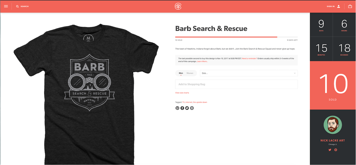 shopify commerce awards: cotton bureau