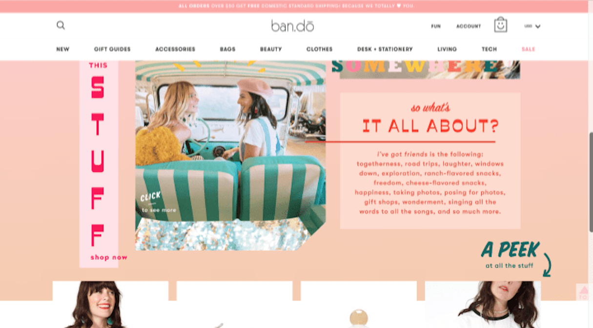 shopify stores: bando designs stuff