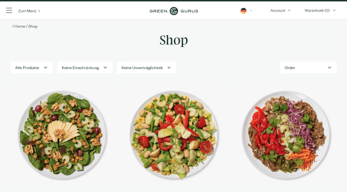 shopify stores: green gurus shop