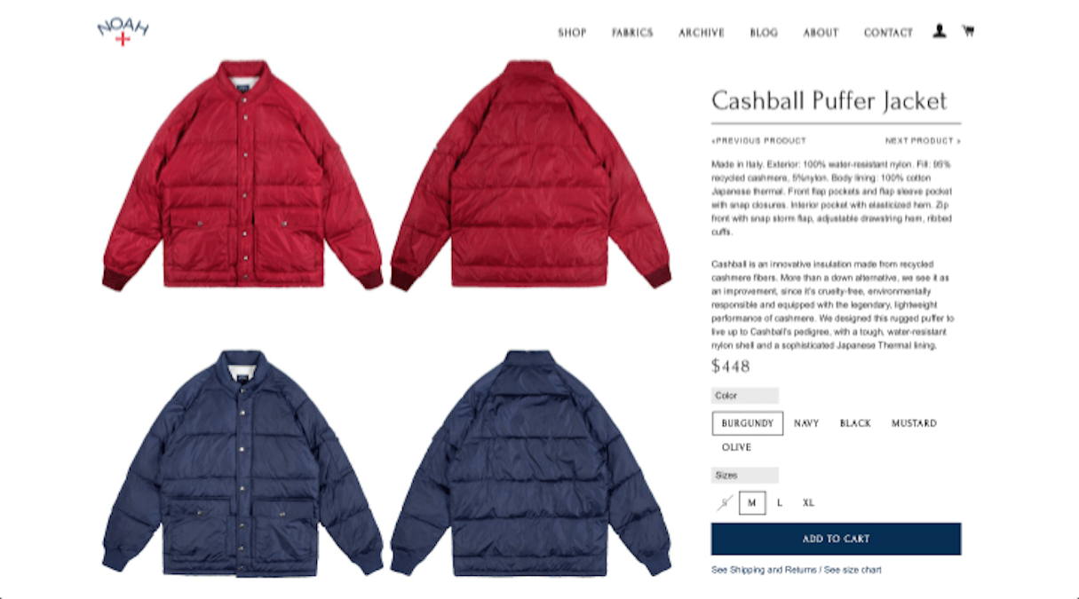 shopify stores: noah jackets