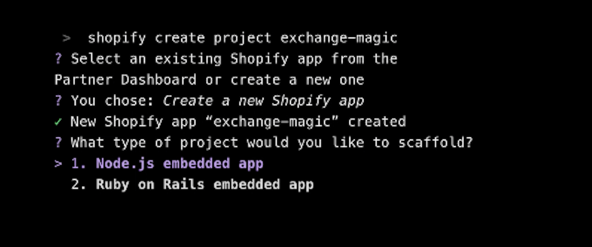 shopify unite 2019 announcements: app cli
