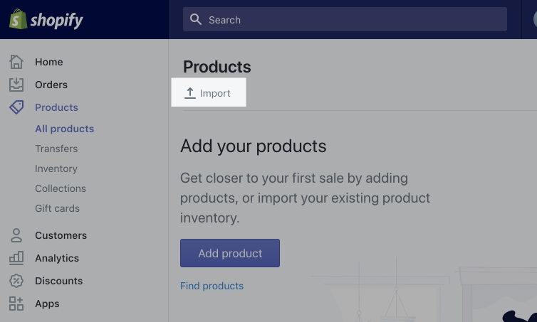 shopify upload product csv - import products