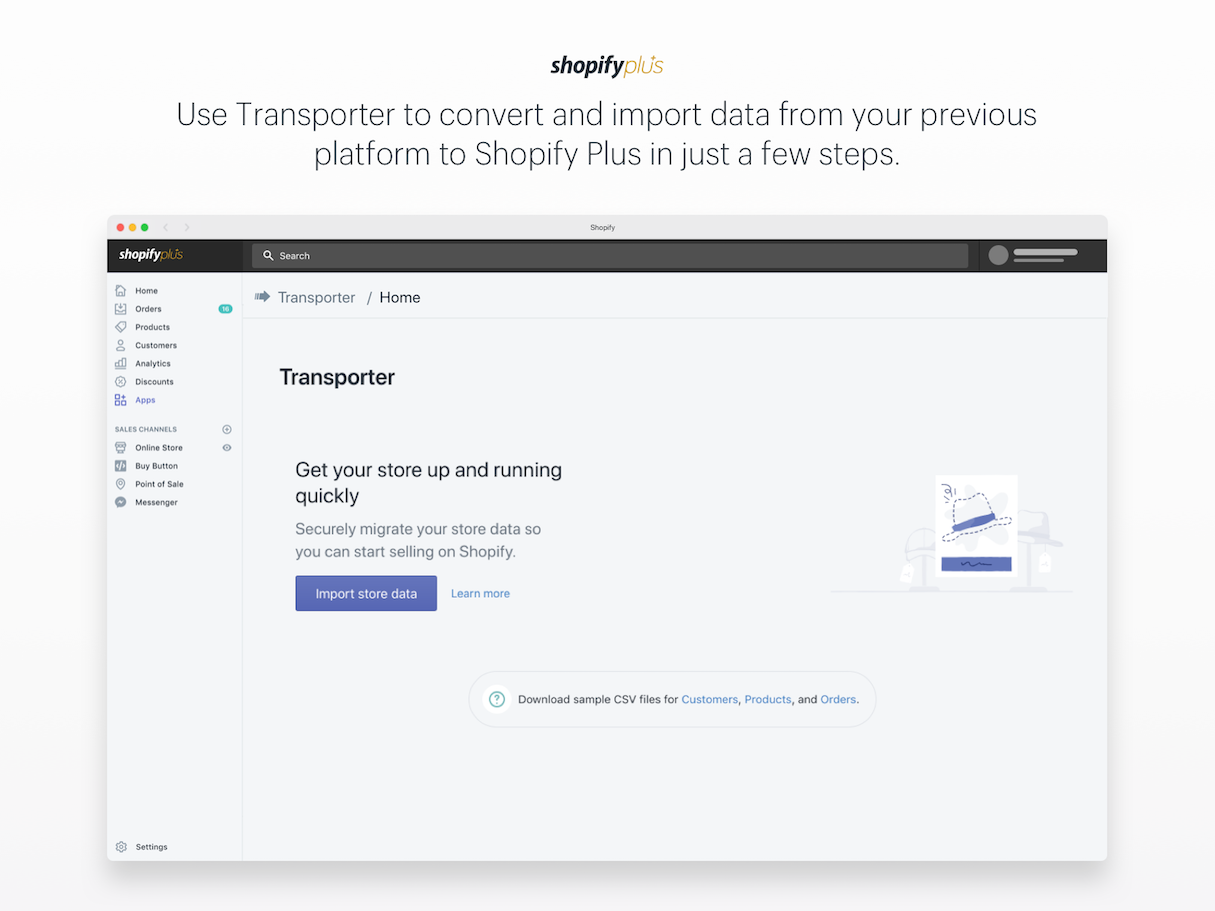 Shopify What's New Sept 7: Transporter App