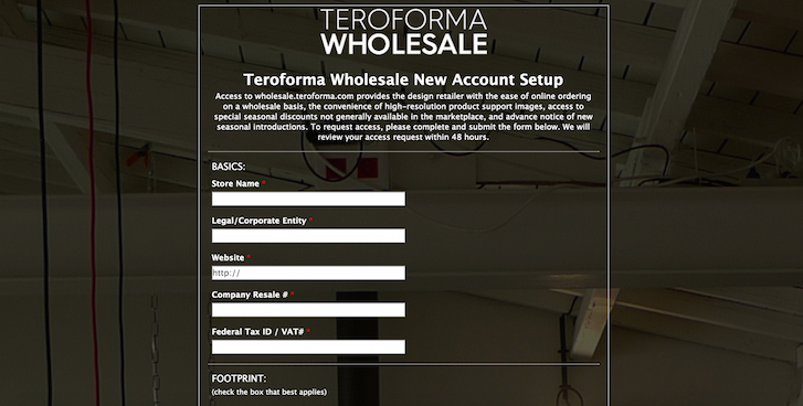 Wholesale customer application form example