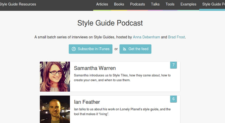 Web Design and Development Podcasts: Style Guide Podcast