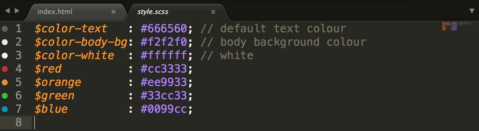 sublime text plugins: gutter color