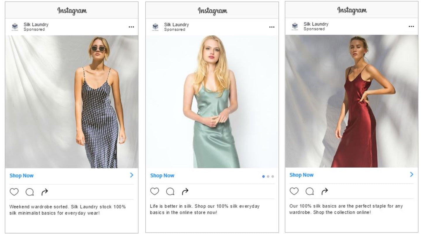 Successful Marketing Campaigns: Silk laundry instagram ad
