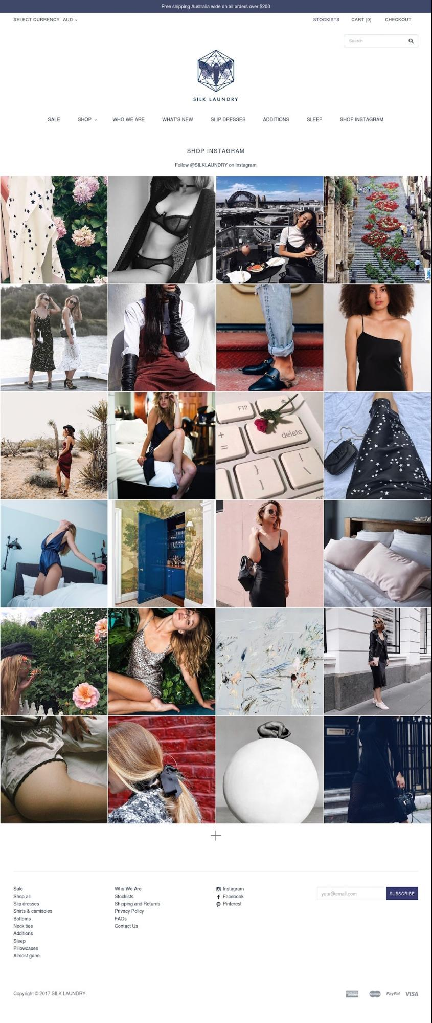 Successful Marketing Campaigns: Silk laundry Shop instagram page