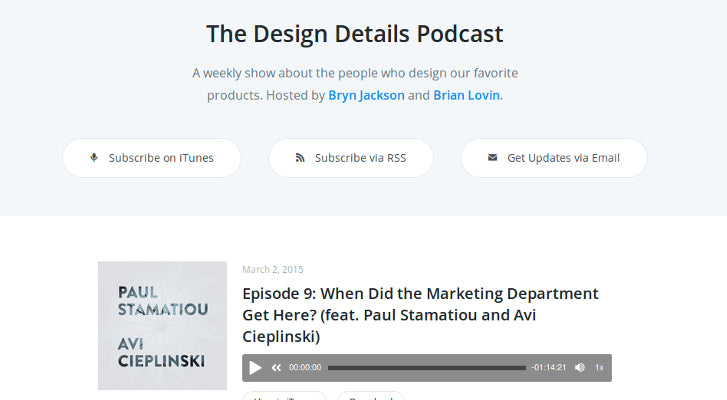 Web Design and Development Podcasts: The Design Details Podcast
