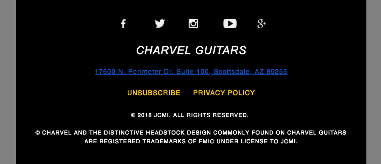 transactional emails: guitars