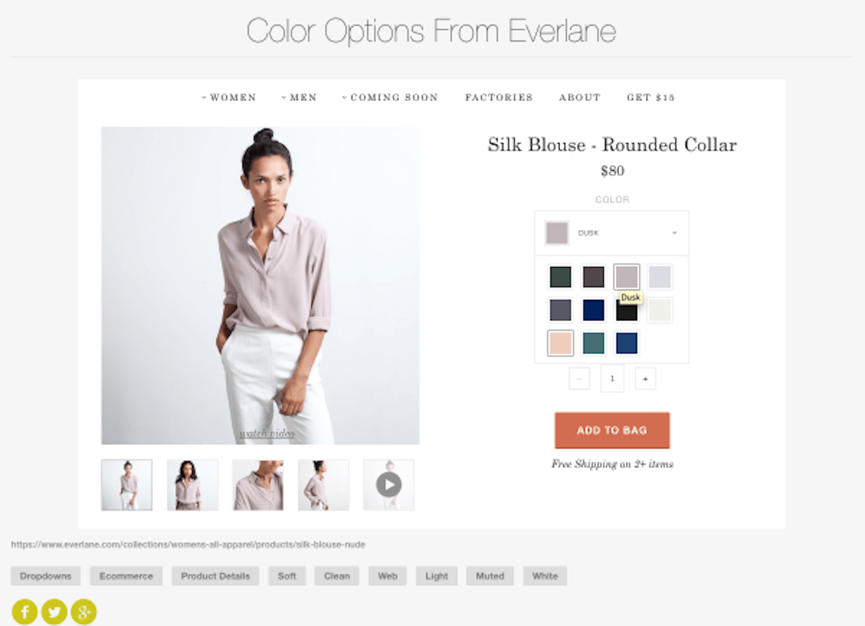ui patterns: color palettes