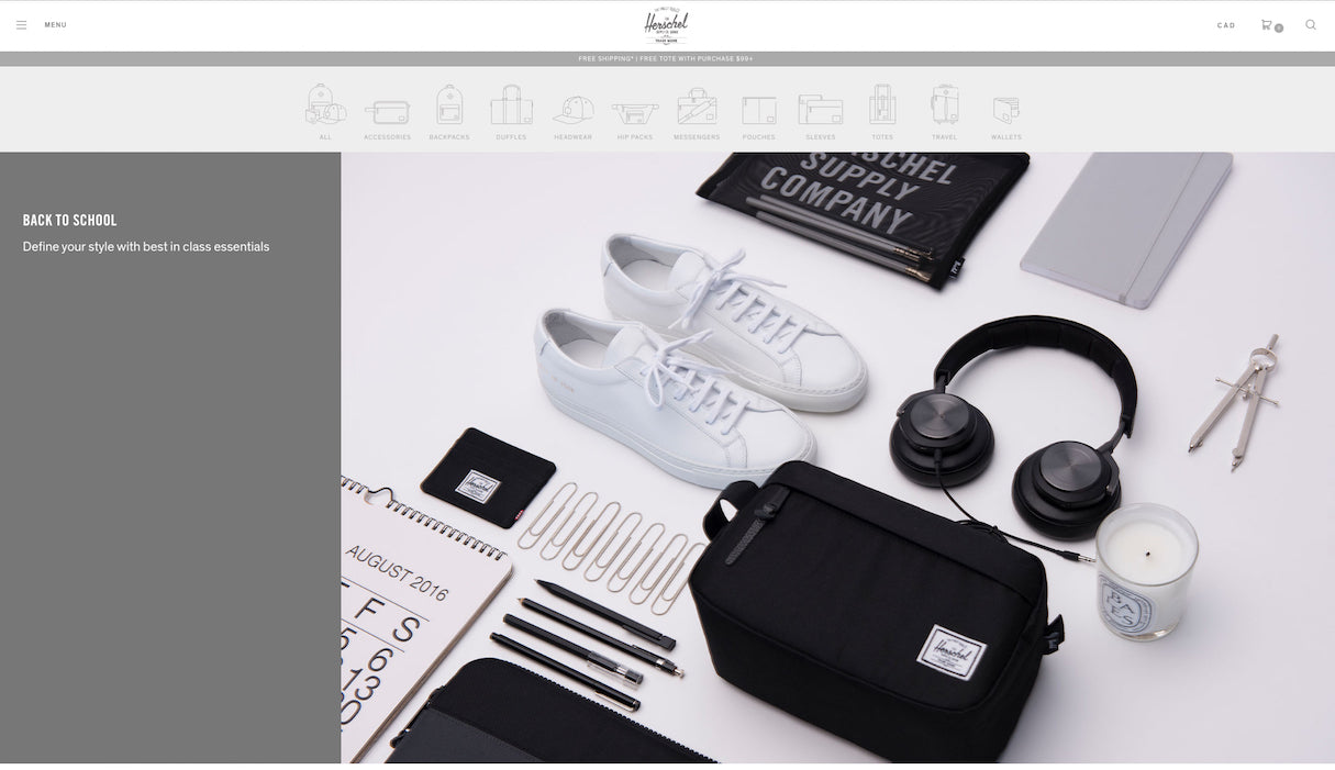 Icons to Enhance Your Ecommerce Website: Herschel
