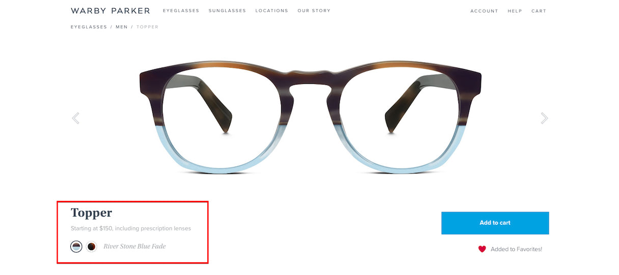 Icons to Enhance Your Ecommerce Website: Warby Parker