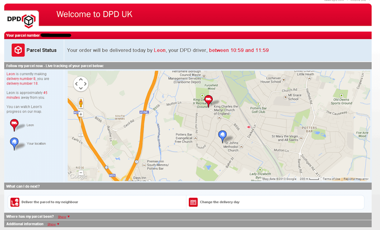 user experience design: dpd