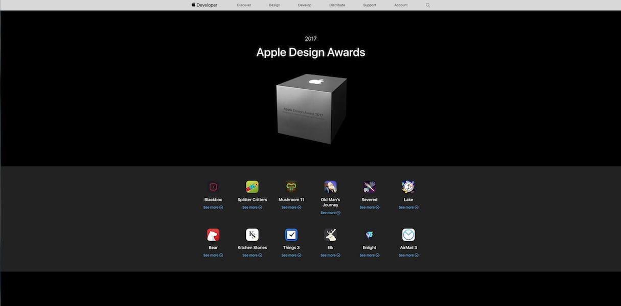 web design and development: apple