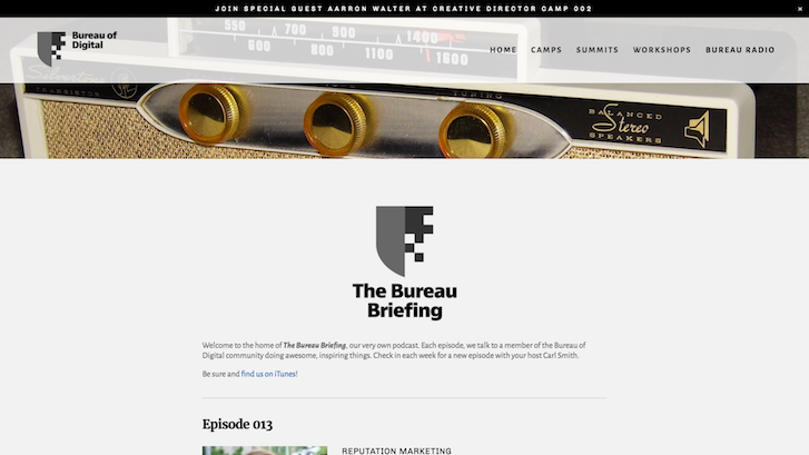 Web Design Podcasts: The Bureau Briefing