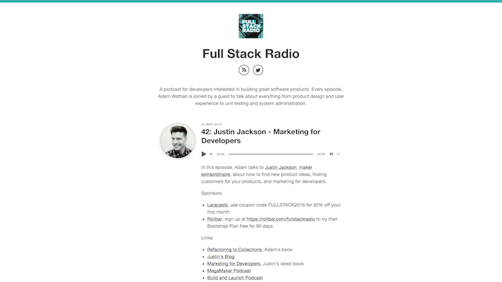 Web Design Podcasts: Full Stack Radio