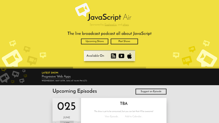 Web Design Podcasts: Javascript Air