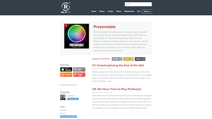 Web Design Podcasts: Presentable