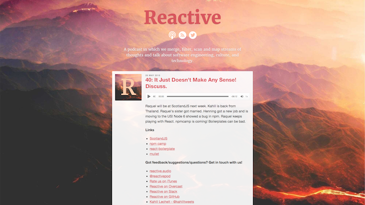 Web Design Podcasts: Reactive