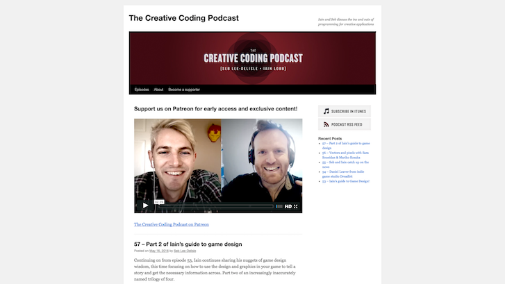 Web Design Podcasts: The Creative Coding