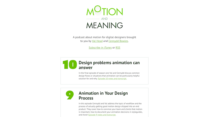 Web Design Podcast: Motion and Meaning