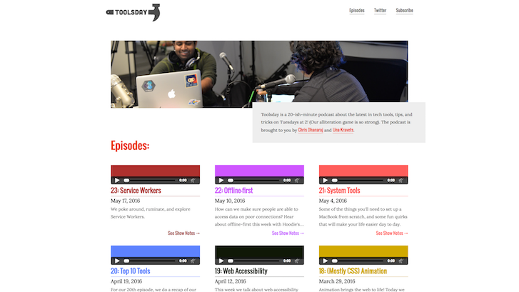 Web Design Podcasts: Toolsday