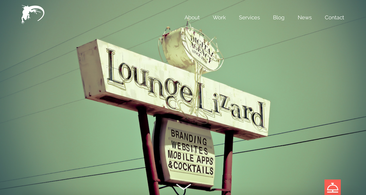 Web design portfolio inspiration: Lounge Lizard
