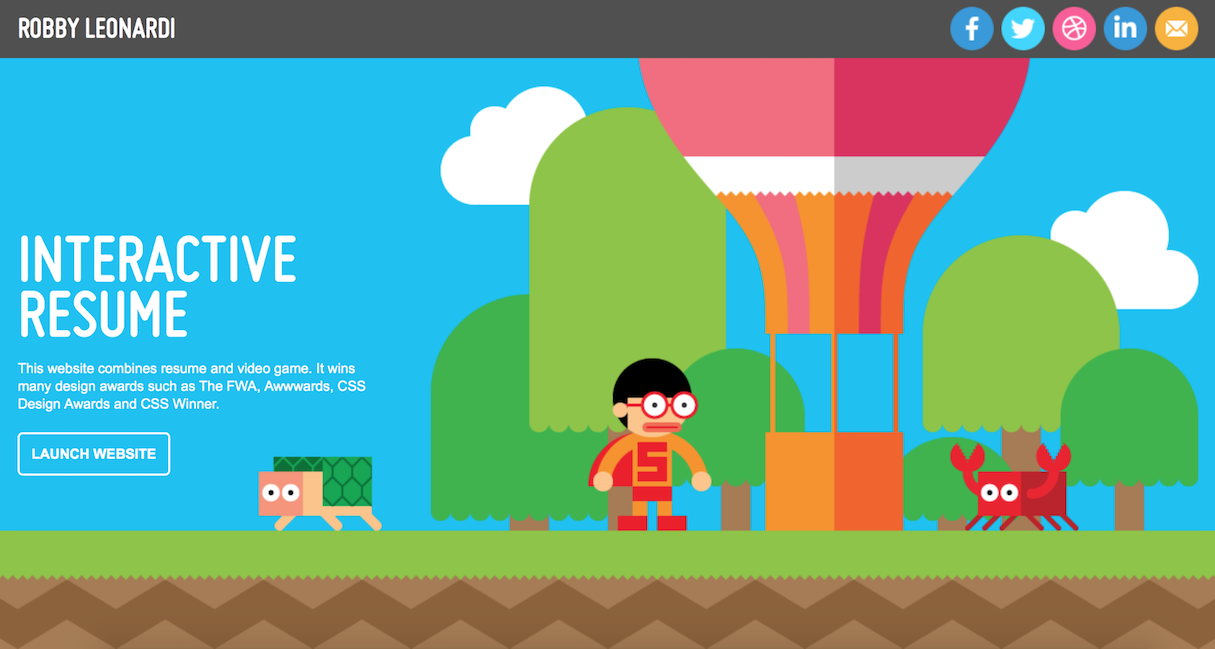 Memorable Web Design Portfolios To Inspire Your Own Website - Game design portfolio