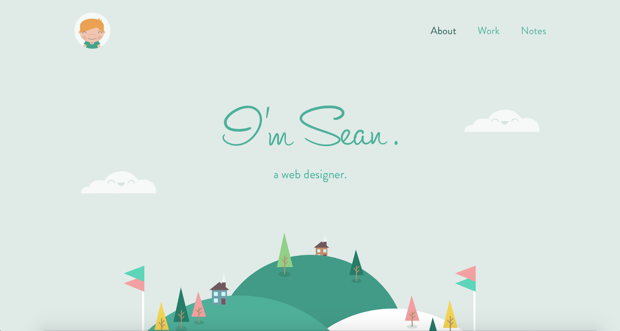 Web design portfolio inspiration: Sean Halpin