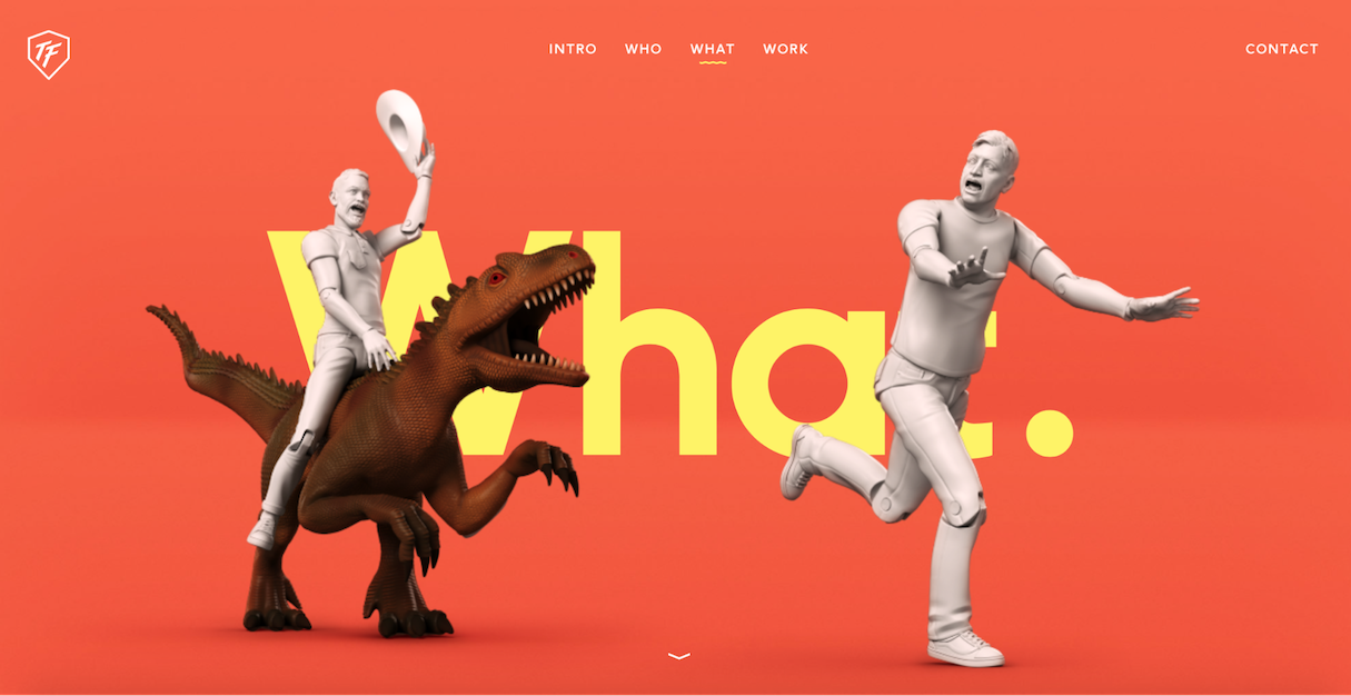 Web design portfolio inspiration: ToyFight