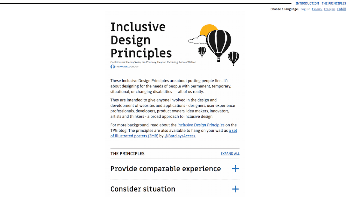 web design trends 2018: inclusive design principles