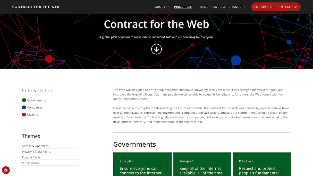 web design trends: contract for the web