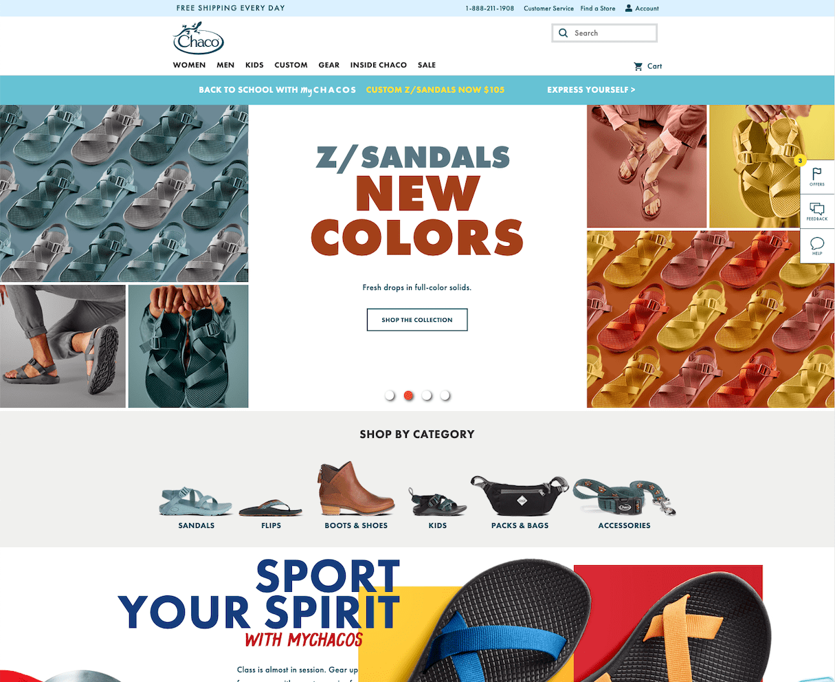 website color schemes: chacos
