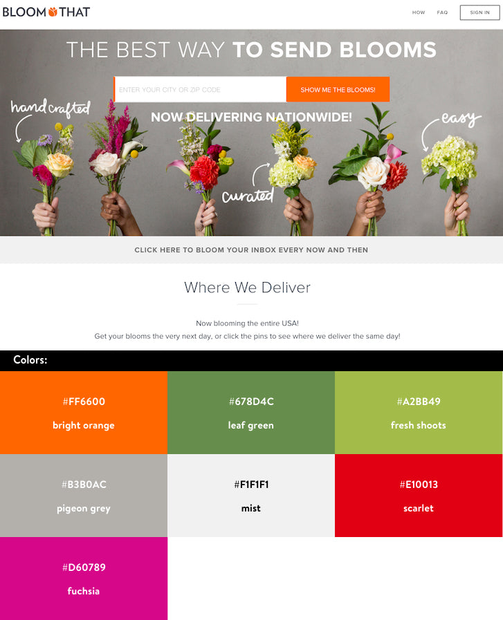 Website Color Schemes Bloom That