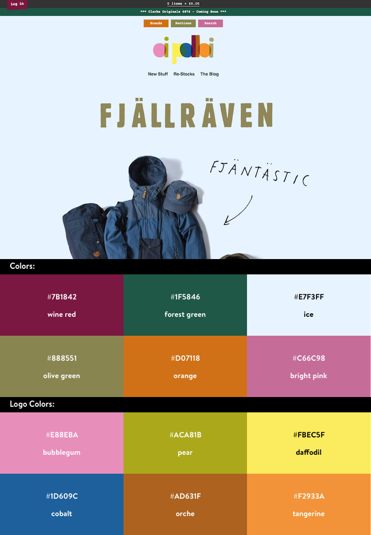 10 beautiful ecommerce website color schemes for Web page color palette