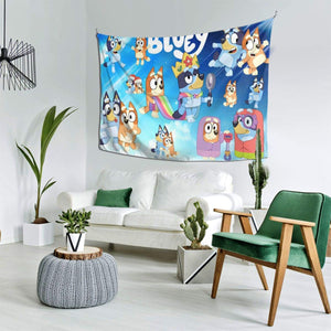 GIPHOJO Tapestry Blu-ey Hippie Tapestries Anime Wall Art Hanging Cartoon Wall Poster Bed Dorm Home Living Room Apartment 60x40 inches Decor Gifts 1 One Size
