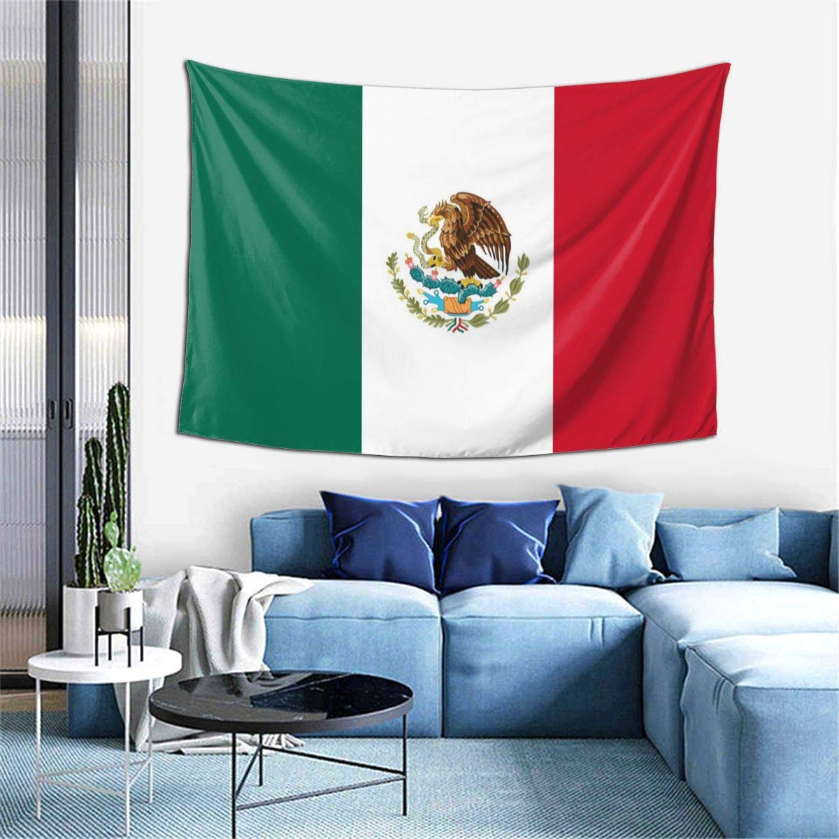 Wall Decoration Tapestry - Mexican Flag Hippie Art Tapestry Wall Hanging - Extra Large Tablecloths 60 X 40 Inch for Bedroom Living Room Dorm Room Home Decor One Size