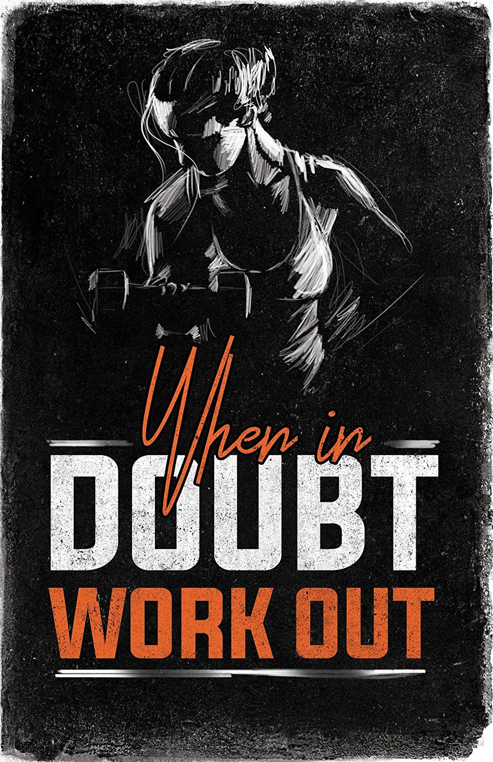 Gym Posters for Home Gym Decor, Motivational Posters for Gym, Workout Posters for Home Gym, Motivational Poster, Fitness Posters, Workout Room Decor, Inspirational Posters, Gym Wall Art, 4 Set 11x17""