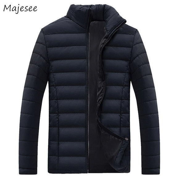 Big Size Men Parka Top Quality Thick Stand Stylish Mens Parkas Casual Slim Windproof Warm Winter Clothes Males Simple Streetwear
