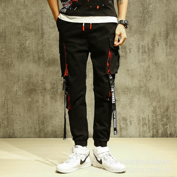 Side Pockets Ribbon Buckles Cargo Harem Pants 2020 Hip Hop Casual Joggers Pants Streetwear Fashion Sweatpants Trousers