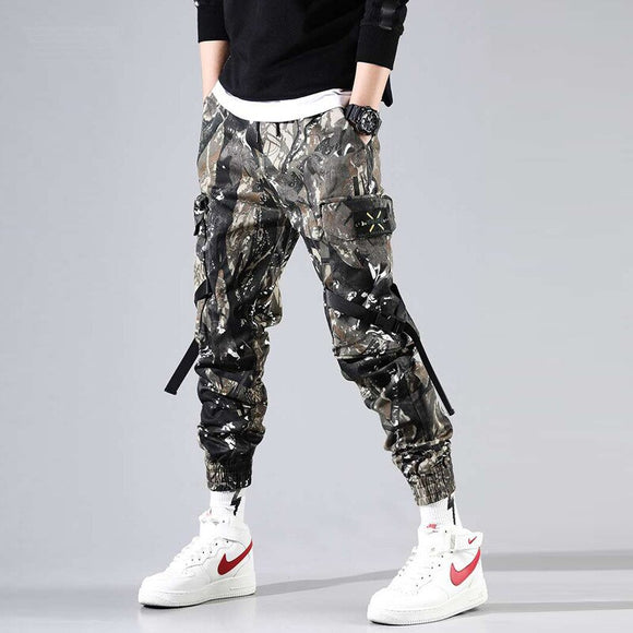 Hip Hip Military Cargo Pants Men Ankle-Length Pants Men's Joggers Streetwear 2019 Spring Camouflage Trousers for Male HD036