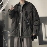 Men Parkas Winter Male Outwear Coats Jackets Warm Windbreaker Simple Loose 2XL Solid All-match Daily Casual Students Ulzzang Ins